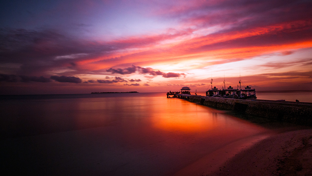 Sunsets at Wakatobi are a welcome sight for divers eager to jump in for some night dive encounters. photo by Wakatobi guest Allan Saben