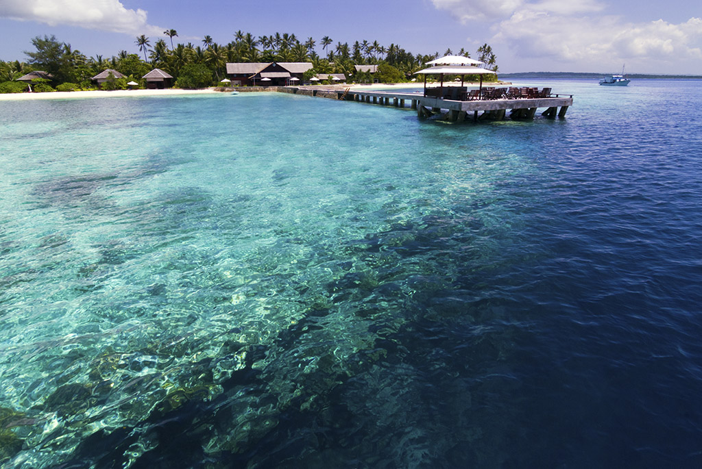 Wakatobi's house reef is ideal for rebreather diving. Divers have the option to go on an extended CCR dive mere steps away from the resort's villas and bungalows.    photo by Walt Stearns