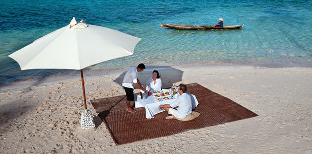 Private picnics on the beach can easily be arranged and offer guests a relaxing diversion from the norm. Photo by Didi Lotze