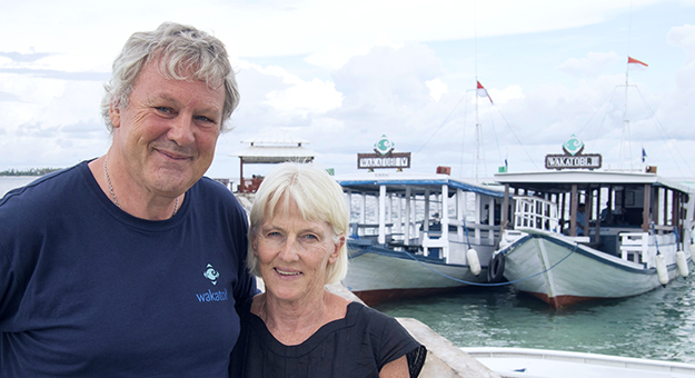 Wayne and Pam Osborn. Photo by Wakatobi Dive Resort