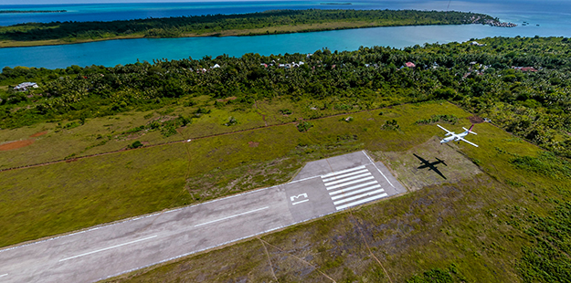 Our own paved airstrip is large enough to accommodate a wide range of twin engine aircraft. This ensures we can expedite prompt and safe evacuation should an emergency arise. Photo by Wakatobi Dive Resort