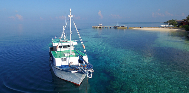 In addition to our flights twice weekly, we also have a supply boat that helps us keep us well provisioned. Photo by Wakatobi Dive Resort