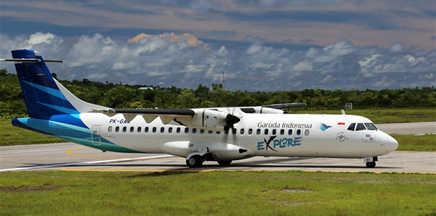 Our guests can choose from twice-weekly flights on a new Garuda 70-seat ATR-72 600 plane. Flights depart Bali each Monday and Friday morning, and return from the resort that same afternoon. Photo by Wakatobi Resort