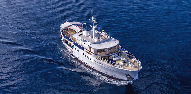 Pelagian takes a max ten divers in 5 spacious cabins with a crew of twelve that includes an executive chef and stewards, adding fine dining and five-star service to the itinerary.