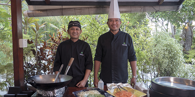 Take in an Indonesian cooking class for a hands-on experience with our culinary team. Photo by Elke Specker