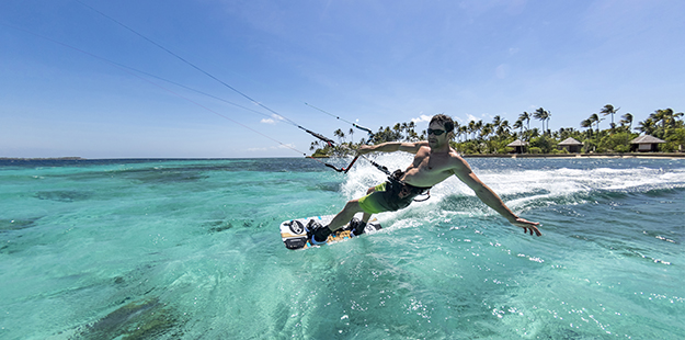 Kiters of all levels enjoy the thrill of Wakatobi's waters during season from June through September.