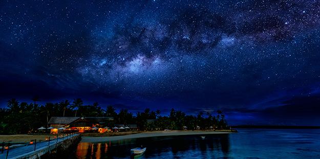 The night sky comes alive at Wakatobi Resort. Photo by Didi Lotze