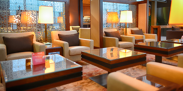 """The airport lounge is very nice and it's much more relaxing than waiting at a boarding gate,"" says guest Pam Osborn"