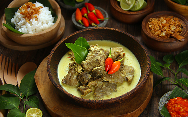 Gulai Kambing is Indonesia's rich and spicy version of a curry stew and can be made with any number of meats or seafood. Yum. Photo by Wakatobi Resort