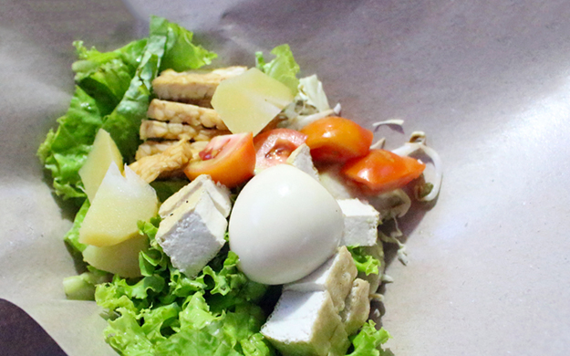 A variety of locally-grown vegetables can be tossed with tofu, potatoes, and hard-boiled eggs to create Gado-Gado, a vegetarian's delight. Photo by Wakatobi Resort