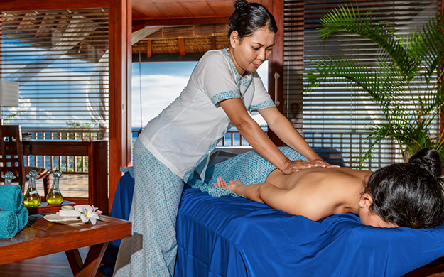 Soak up a sumptuous spa treatment in the comfort of your Bungalow or Villa. Using our original custom-blended oils and aromatherapies our skilled therapists will leave you relaxed and rejuvenated.