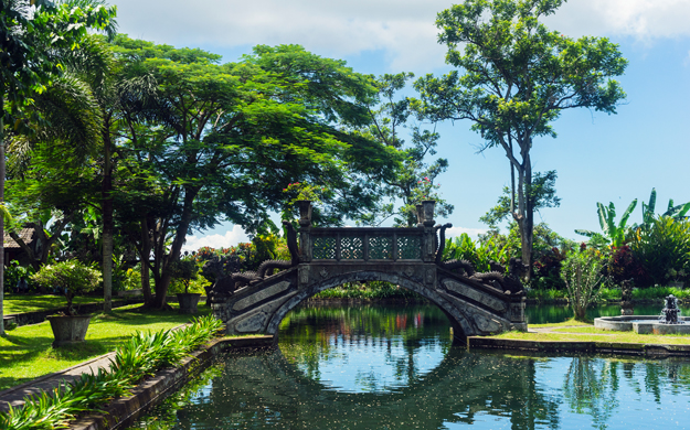 Tirta Gangga Water Palace, a former royal palace in eastern Bali, is a popular spot for guests to visit during their Wakatobi Bali tour.