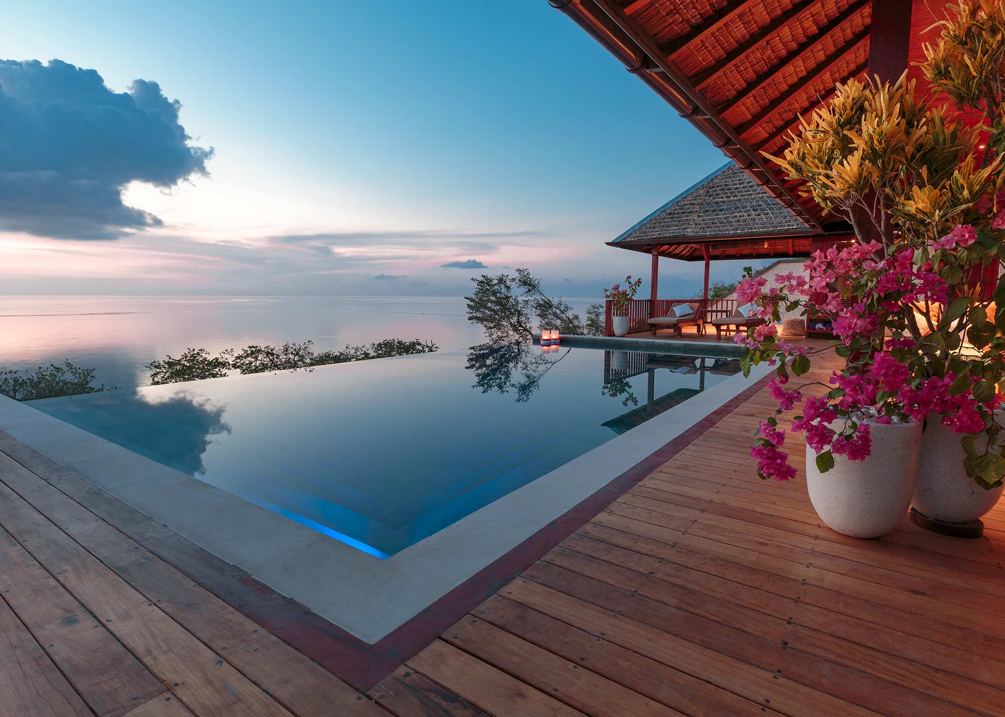 Relaxing by the Villa pool after a day of diving or snorkeling is a memory that stays with many a Wakatobi guest.