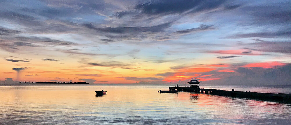 Sunset at Wakatobi Resort, Southeast Sulawesi, Indonesia.